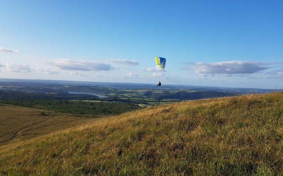 Apprendre le parapente en Bretagne en vol 2